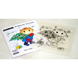 Hamilton Hamster - Bringing the Tree Home Stamp