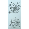 Wreath & Snowman Stamps
