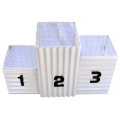 White corrugated steel and wire rack