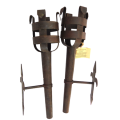 Wrought Iron Wall torches Pair